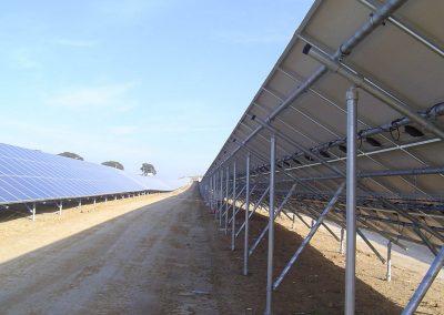 Vista posterior paneles solares